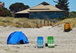 namiot na plaży